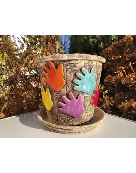 Květináč - motiv ruce