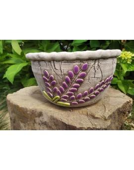 Keramický květináč - levandule